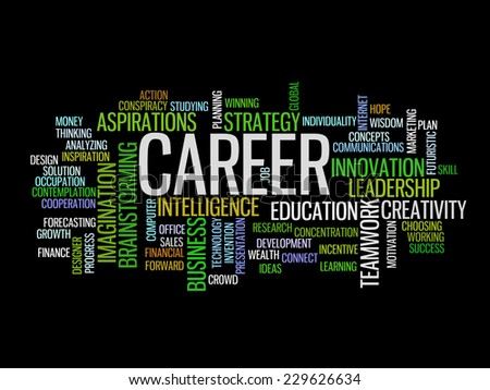 business career concept word cloud - stock vector