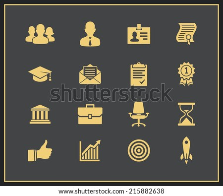 Business career icons. Vector illustration - stock vector