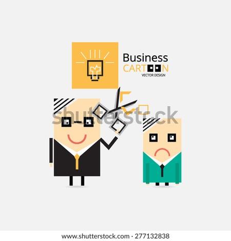 Business Cartoons  - stock vector