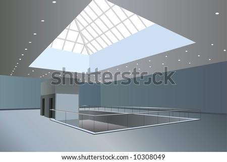 business center interior vector - stock vector