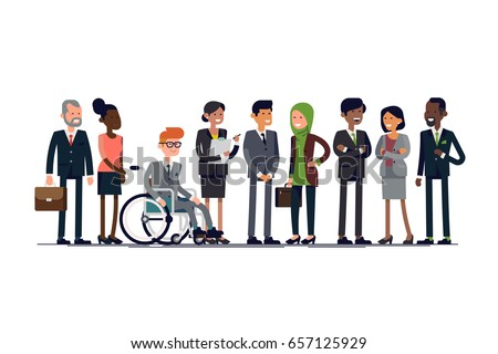 business characters vector lineup diverse businessmen