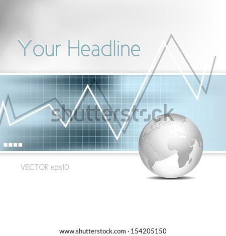 Business chart - bar graph - financial background - stock vector