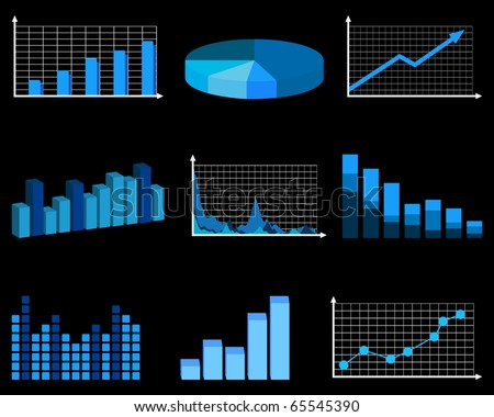 Business charts - stock vector
