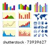 Business charts and icons - stock photo