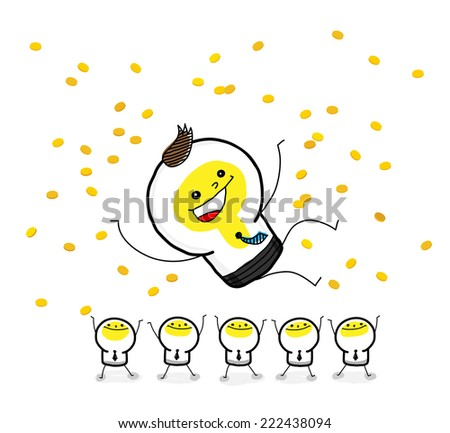 Business: Cheers for Champion. - stock vector