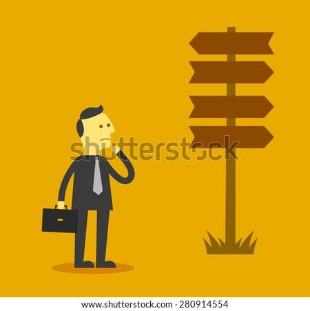 Business choice - stock vector