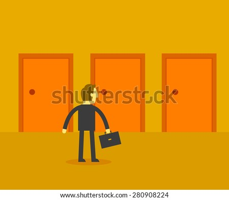 business choices - stock vector