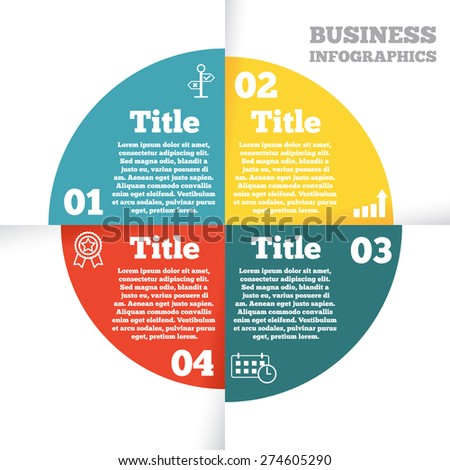 Business circle info graphic stylized paper stock vector 274605290 business circle info graphic stylized paper diagram presentation with four steps ccuart Images