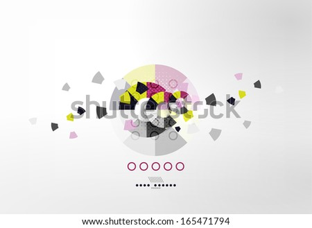 Business circles geometric shape abstract background - stock vector