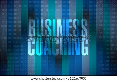 business coaching binary sign concept illustration design graphic