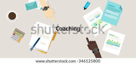 business coaching coach professional development management strategy - stock vector
