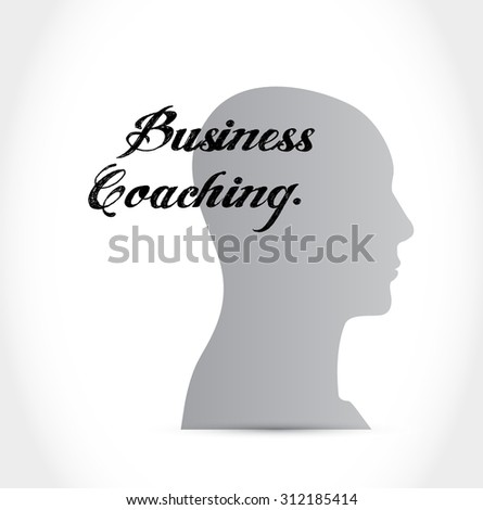 business coaching head sign concept illustration design graphic - stock vector