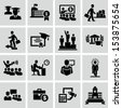 Business college education icons vector  - stock photo