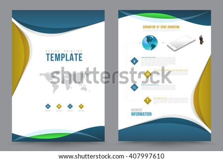 Business communication annual report leaflet brochure stock vector business communication annual report leaflet brochure flyer template a4 size design book cover layout design accmission Choice Image