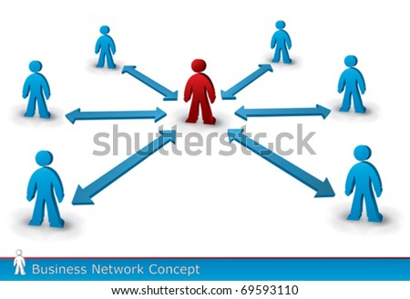 business communication concept in vector format - stock vector
