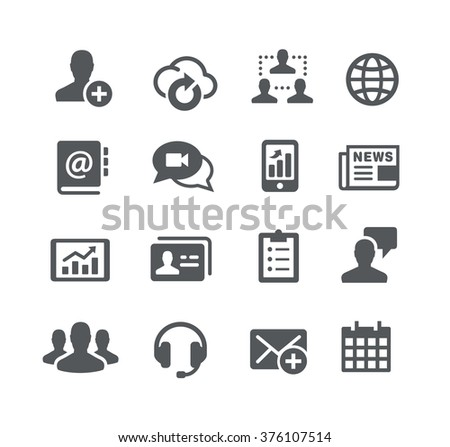 Business Communications Icons // Utility Series - stock vector