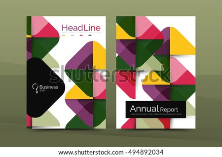 Business Company Profile Brochure Template Vector Stock Vector