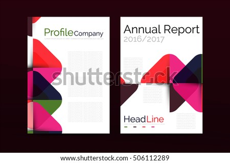 business company profile brochure template vector corporate brochure design