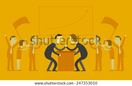 business competition concept - stock vector