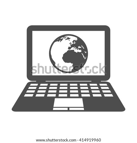 business computer  technology vector  icon