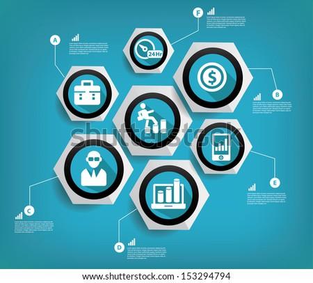 Business concept,Abstract,vector - stock vector