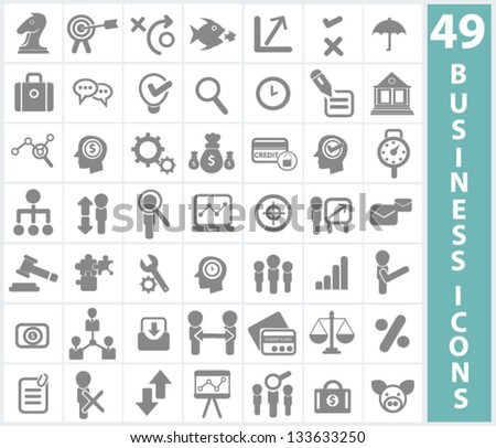 Business concept and management icons,vector - stock vector