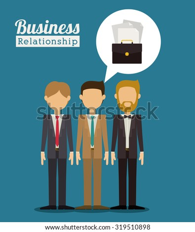 Business concept and office icons design, vector illustration eps 10 - stock vector