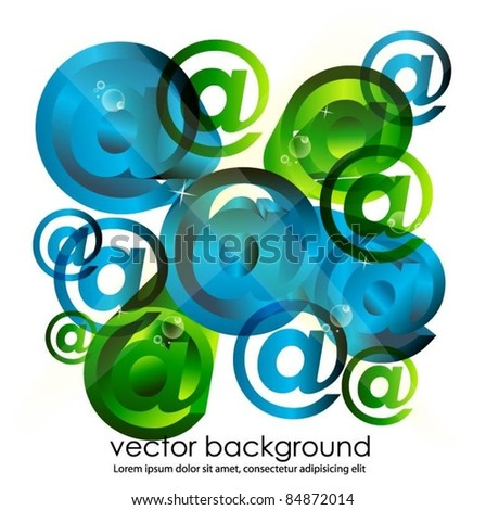 business concept background with email symbols - stock vector