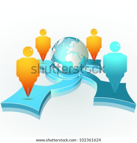 business concept design for team work. vector - stock vector