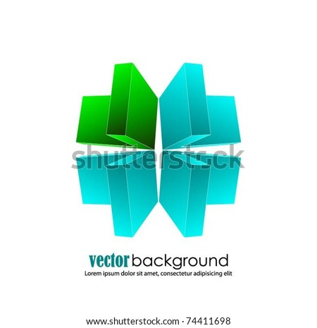 business concept design with 3d arrows-vector - stock vector