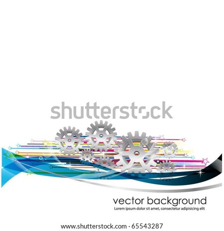 business concept design with gears - stock vector