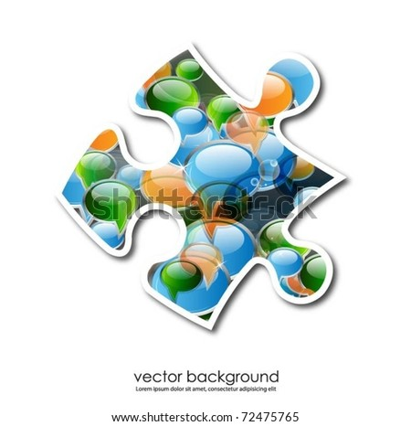 business concept design with puzzle piece - stock vector