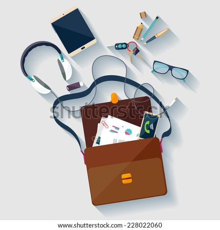 Business concept. Flat design. - stock vector