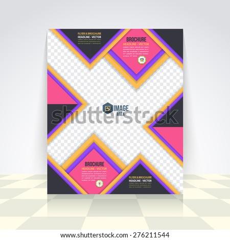 Business Concept Flyer, Brochure Design. Corporate Leaflet, Cover Template - stock vector
