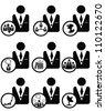 Business concept,icon set,Vector - stock vector