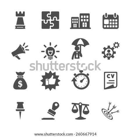 business concept icon set, vector eps10. - stock vector