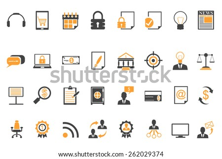 Business concept icons - stock vector