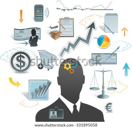 business concept ideas - stock vector