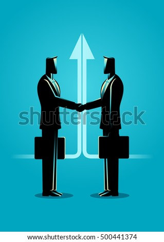 Business concept illustration. Business Deal