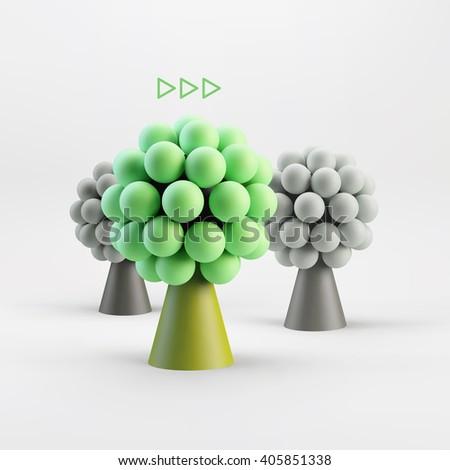 Business concept illustration. Leadership 3D vector illustration. - stock vector