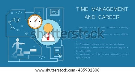 Business concept. Modern flat illustration. For posters, pamphlets, brochures and illustrations of business articles, web pages. Career growth and success. Financial start, planning and analytics.