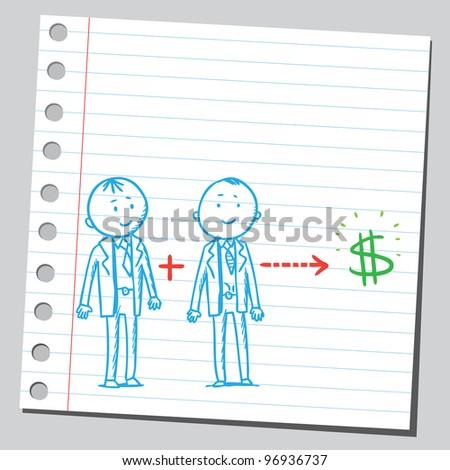 Business concept (partnership) - stock vector