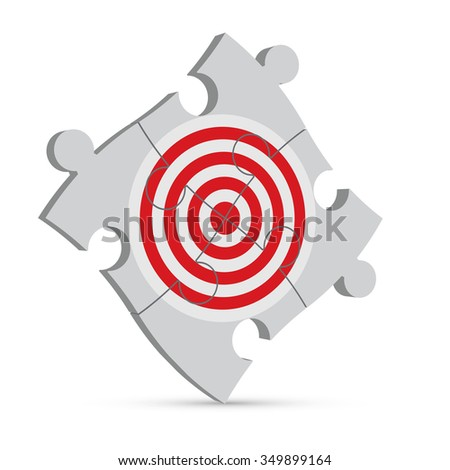 business concept. target puzzle on a white background. - stock vector