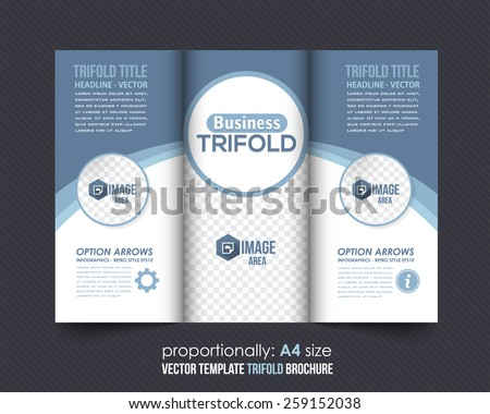 Business Concept Tri-fold Design and Brochure, Catalog Vector Template