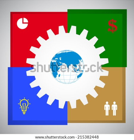 Business Concept vector illustration, modern template,infographic business plan. - stock vector