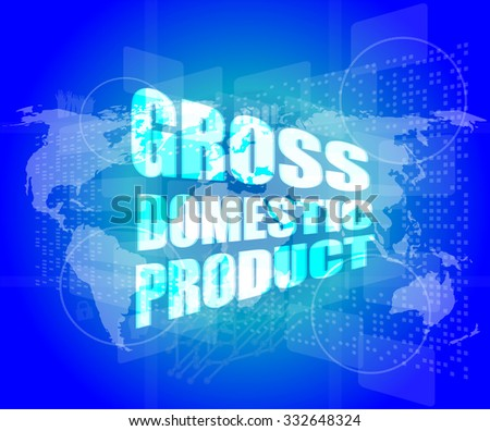 business concept: word gross domestic product on digital screen vector illustration - stock vector