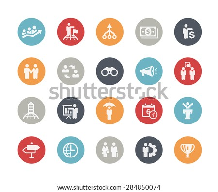 Business Concepts Icon Set // Classics Series - stock vector
