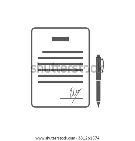 Business Contract Signature Agreement Pact Accord Stock Vector