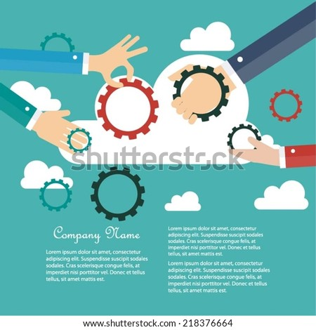 Business cooperation concept - stock vector
