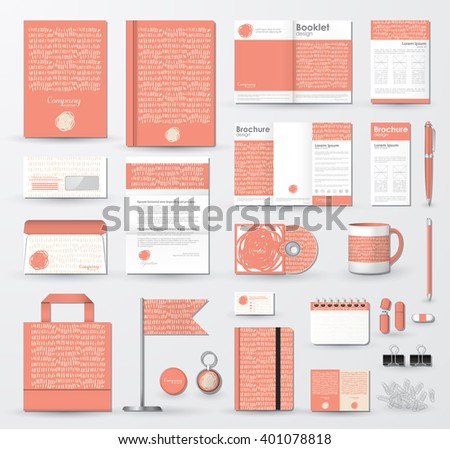 Corporate Identity Template Set Branding Design Stock Vector ...